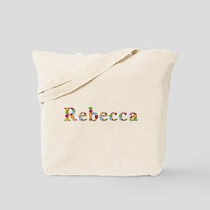 Rebecca Bright Flowers Tote Bag