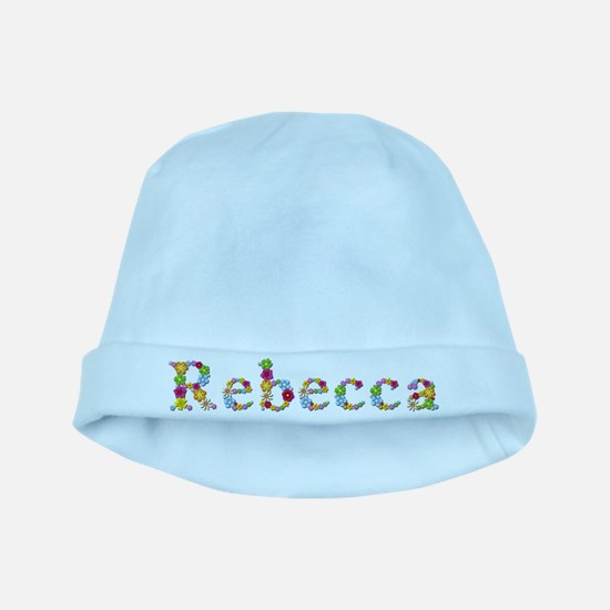 Rebecca Bright Flowers baby hat