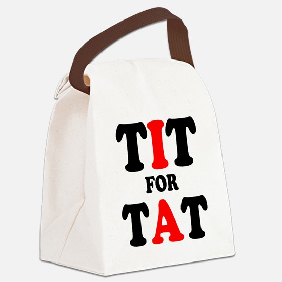 TIT FOR TAT Canvas Lunch Bag