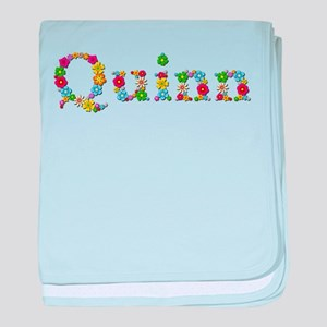 Quinn Bright Flowers baby blanket