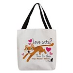 Love Cats? Polyester Tote Bag