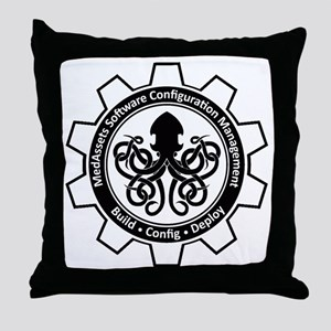 KrakenLogoInverse Throw Pillow