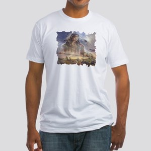 White Buffalo Gift Fitted T-Shirt