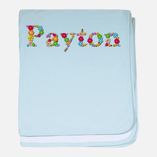 Payton Bright Flowers baby blanket