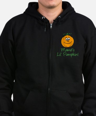 Mamos Little Pumpkin Zip Hoodie (dark)