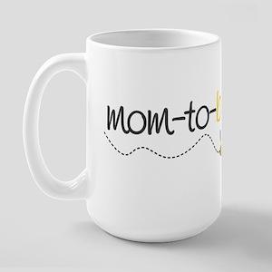 mom to be t shirt Large Mug