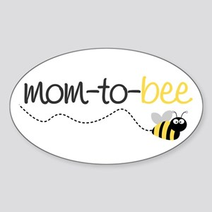 mom to be t shirt Oval Sticker