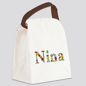 Nina Bright Flowers Canvas Lunch Bag