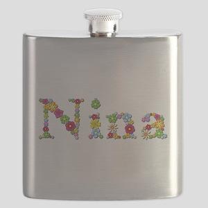 Nina Bright Flowers Flask