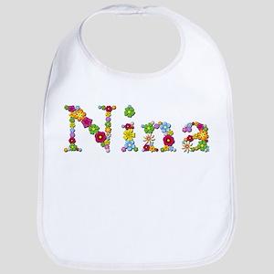 Nina Bright Flowers Bib
