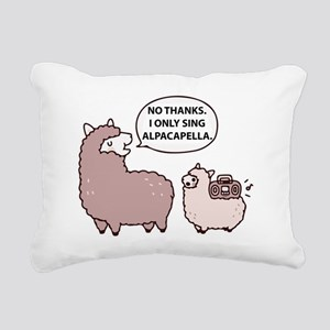 Acapella Humor Rectangular Canvas Pillow