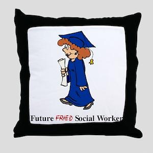 Future Fried SW Throw Pillow