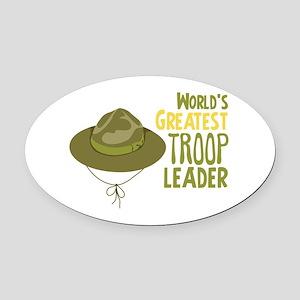 Greatest Troop Leader Oval Car Magnet
