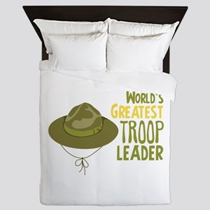 Greatest Troop Leader Queen Duvet