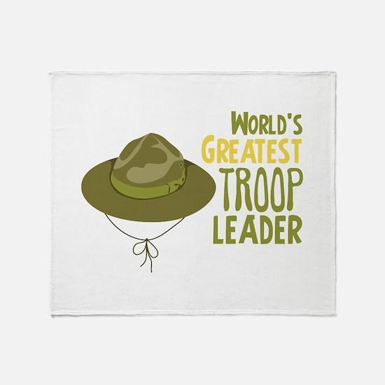Greatest Troop Leader Throw Blanket