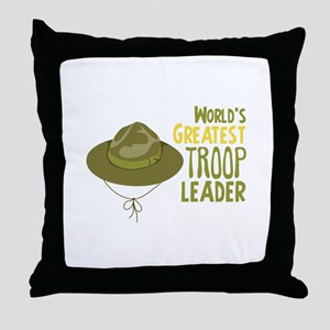 Greatest Troop Leader Throw Pillow