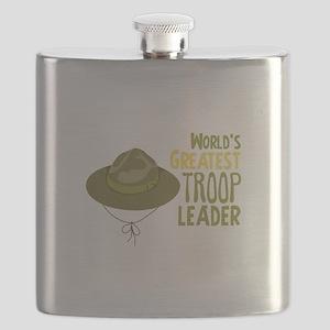 Greatest Troop Leader Flask