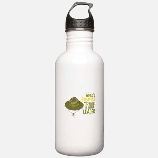 Greatest Troop Leader Water Bottle