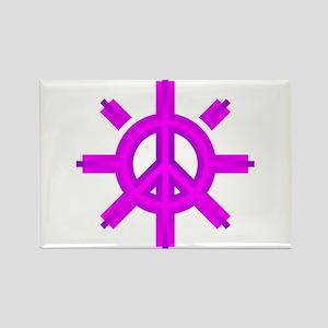 Peace Sun 06 Rectangle Magnet
