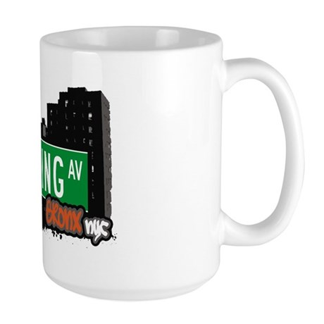 Lurting Av, Bronx, NYC Large Mug