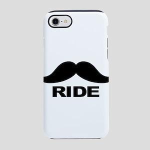 mustache ride iPhone 7 Tough Case