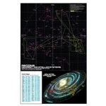 100 Closest Star Map - Large