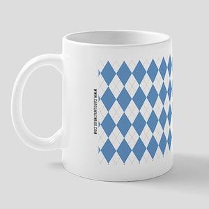 UNC Carolina Blue Argle Basketball Mug