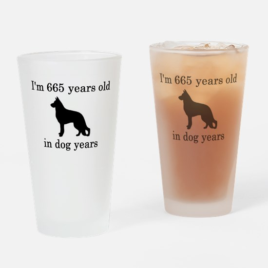 95 birthday dog years german shepherd black Drinki