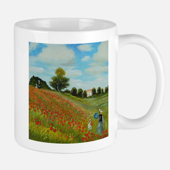 Poppy Field by Monet Mugs