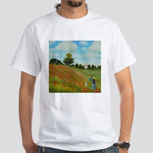 Poppy Field by Monet T-Shirt