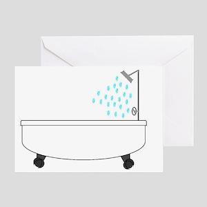 Bathtub Greeting Card