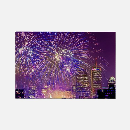 Boston, MA July 4th Fireworks Rectangle Magnet