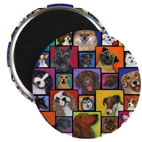 "I Love Dogs! 2.25"" Magnet (100 pack)"