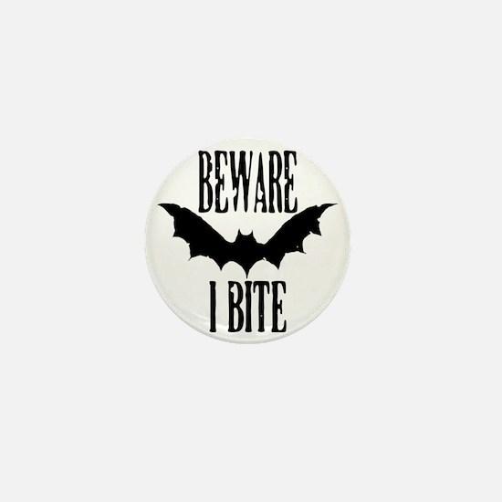 Beware I Bite Mini Button