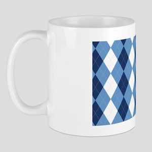 UNC Basketball Argyle Carolina Blue Mug