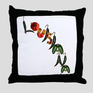 Louisiana Chilis Throw Pillow