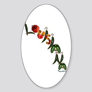 Louisiana Chilis Oval Sticker