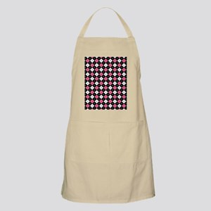 Argyle Pattern Black Pink and White Apron
