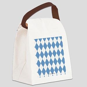 UNC Carolina Blue Argle Basketbal Canvas Lunch Bag