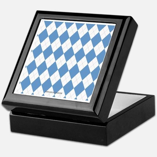 UNC Carolina Blue Argle Basketball Keepsake Box
