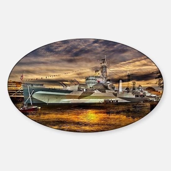 HMS Belfast Sticker (Oval)