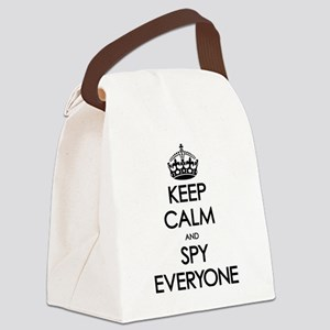 Keep Calm and Spy Everyone Canvas Lunch Bag