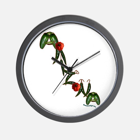 Arizona Chilis Wall Clock