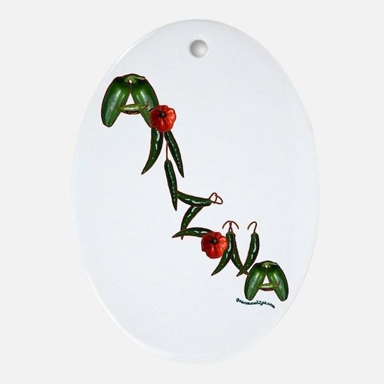 Arizona Chilis Oval Ornament
