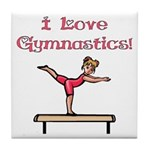 I Love Gymnastics Tile Coaster