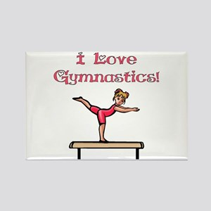 I Love Gymnastics Rectangle Magnet