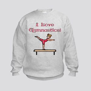 I Love Gymnastics Kids Sweatshirt