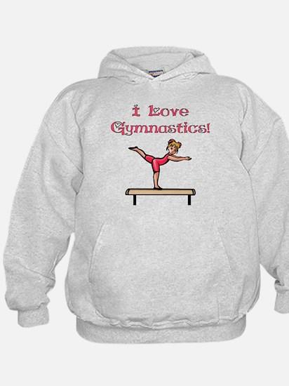 I Love Gymnastics Hoodie