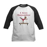 I Love Gymnastics Kids Baseball Jersey