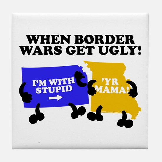 Border Wars Tile Coaster